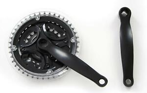 NECO 170mm Mountain Bike Triple CHAINSET ( Crank Set ) - in Black 24 34 42T New