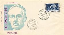 Repubblica Italiana 1958 FDC Venetia Club Giacomo Puccini VARIETA'