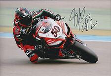Sylvain GUINTOLI SIGNED APRILIA Autograph Photo AFTAL COA SUPERBIKE French Rider
