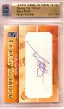 Steve Shutt Famous Fabrics Ink Hockey Edition Stanley Cup Winner Autograph 1/1
