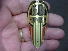 Western Flyer Bicycle Head Tube Badge Western Auto Stores 1930s - 40s Brass Etch