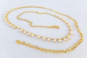 Ethnic Women Hip Waist Belt Golden South Indian Belly Chain Kamr Bandh Jewelry
