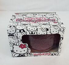 2006 Sanrio HELLO KITTY Glitter PINK Mascot FACE Die Cut 24oz Cup Mug Japan NEW