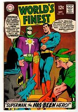 WORLD'S FINEST #178 - Green Arrow Cover & Cameo - VG DC 1968 Vintage Comic