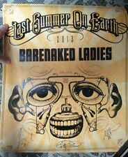 Barenaked Ladies Signed Autographed Band Tour Poster Last Summer on Earth 2013
