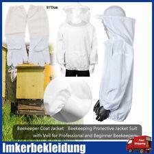 Imker Schutz Bienenschutz Jacke Schleier XXL Handschuhe Atmungsaktiv Werkzeug