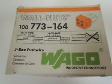 Wago PUSH WIRE 773-164 Pluggable Terminal Block, 4 Conductor, 18AWG to 12AWG 100