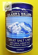 Brine Shrimp Egg PREMIUM Artemia Cysts ALASKA Brand Great Salt Lake 90%HATCHED