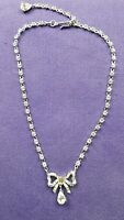 Vintage 1950s Crown Trifari Rhinestone bow necklace