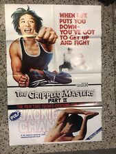 Orig.1981 martial arts movie poster: Crippled Masters & early Jackie Chan film