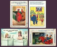 VINTAGE 4 x RUDE COMIC ENGLISH DRUNK SEX JOKE POSTCARDS - ALL ONLY FAIR Cond!!!