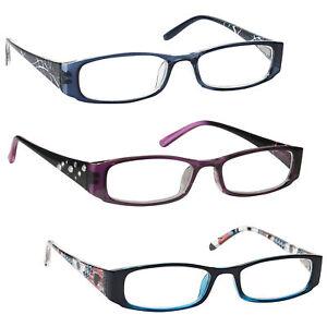 UV Reader Lightweight Reading Glasses Designer Style Womens Ladies Inc Bag