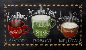 "Rectangular Coffee Kitchen Mat 18"" x 30"" By Catalina Home"