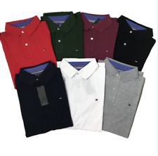 Mens Polo Tommy Hilfiger Classic Short Sleeve Poloshirt Slim Fit S-XL