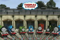 90682 THOMAS THE TANK FRIENDS IN GARAGE THOMAS FRIENDS LAMINATED POSTER DE