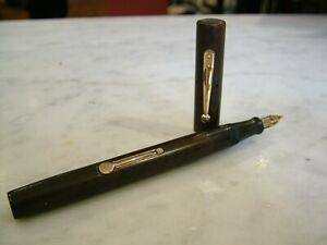 ANTIQUE 52 WATERMAN'S IDEAL CANADA FOUNTAIN PEN GOLD BANDED HM1917 PATENT 1906