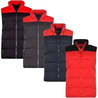 Mens Gilet Gillet 2-Tone Lined Bodywarmer Outdoor Sleeveless Padded Puffer Jkt