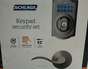 Schlage EZ Install Electronic Entry Keypad Security Set FBE365 V CAM 619 ACC NEW