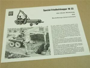 Prospekt Lanz Hela NI22 Spezial Friedhofsbagger 22 PS MWM Motor