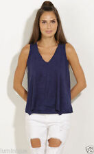 Polyester Casual Solid Sleeveless Tops & Blouses for Women