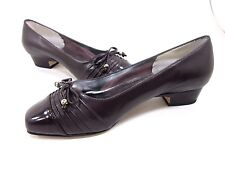 ROS HOMMERSON, CATHY PUMP, WOMENS, BROWN, LEATHER, US 6 WW, NEW WITH BOX