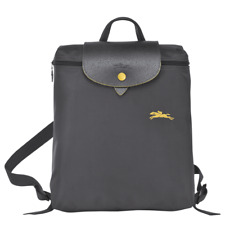 ca62b6f7f950 Auth Longchamp Le Pliage Club Collection Horse Embroidery Backpack Bag Gun  Metal