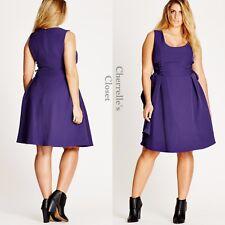 Nordstrom City Chic Purple Corset Side Fit & Flare Dress Plus Size 24 26 XXL