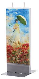 Flatyz Fine Art Flat Candle Monet Woman with a Parasol