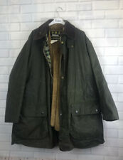 🍄 BARBOUR 🍄 Border Wax Jacket Coat And Matching Hat XXL
