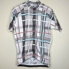 Danny Shane Plaid Full Zip Cycling Jersey Size L
