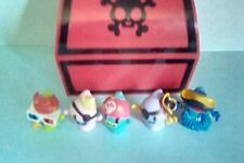 5 MOSHI MONSTER  PIRATE FIGURES IN RED CHEST