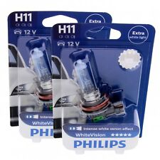 2x H11 PHILIPS WhiteVision 12362WHVB1 12V Lampe Set