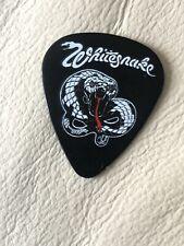 Whitesnake Black White Logo Guitar Pick Tour Bass Michael Devin Signed Autograph