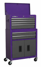 Sealey AP2200BBCP Topchest & Rollcab Combination 6 Drawer - Purple/Grey
