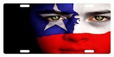 Chile Flag Custom License Plate La Estrella Solitaria Emblem Girl Version #2