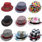 Baby Girls Boys Photography Cotton Trilby Topper Toddler Fedora Hat Jazz Cap B84