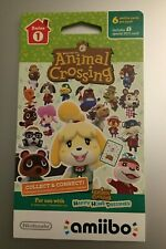 Nintendo Animal Crossing Amiibo Cards Series 1 UNOPENED PACK (6 Cards Each) US