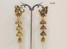 Indian Golden Plated Oxidized Latest Design Jumka Jumki Earring Women Fashion