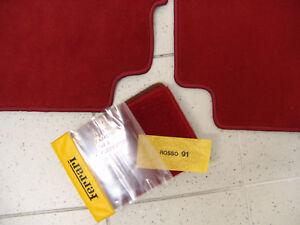 Darkred Velours Floormats for Ferrari 328 GTB 1985-1989