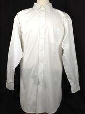 Brooks-Brothers Men's Classic Fit Shirt White Non-Iron 16-35 Std/Cuff P/Collar