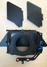 Pro height adjustable Matte Box with filter holder, swing out. For 15mm rails