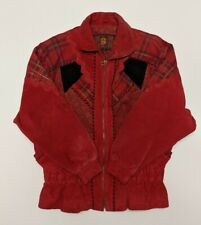 Vintage G-lll Red Leather Jacket Men's Small