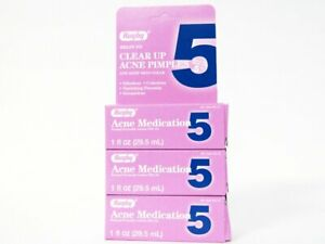 3-PACK Rugby Acne Medication 5 Benzoyl Peroxide 5% Lotion Pimple Treatment 1 oz