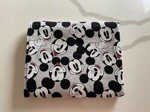Handmade Baby Bassinet Pram Blanket / Wrap ~ Cotton/Minky ~ Mickey Mouse Print