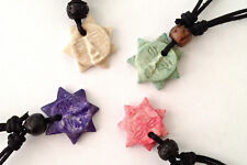 SOAPSTONE  Sun Face  pendant 20mm Boys Girls necklaces  4 Choices  Adjustable