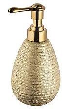 Bisk Soap Dispenser STONEWARE GOLD 8.5x9x17cm NUOVO