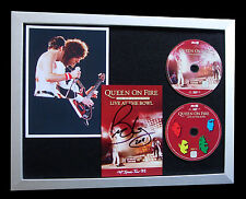 BRIAN MAY+QUEEN+SIGNED+FRAMED+BOHEMIAN+ROCK YOU=100% AUTHENTIC+FAST GLOBAL SHIP