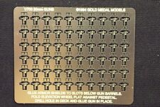 Gold Medal Models 1/700 Scale Photoetch 20mm Cannons (Set of 60 with armor sh.