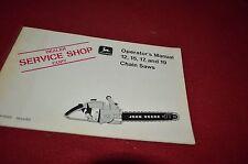 John Deere 12 15 17 19 Chain Saw Operator's Manual Yabe13