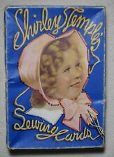 1936 Shirley Temple Sewing Cards Box with 12 Completed Cards Saalfield